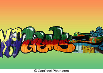 Graffiti isolated - The Photography of isolated, colorful...