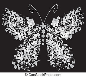 butterfly - vector vintage butterfly