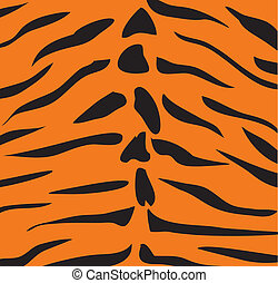 tiger skin - vector tiger skin background