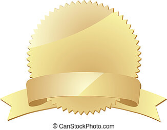 award label - gold award label eps 10