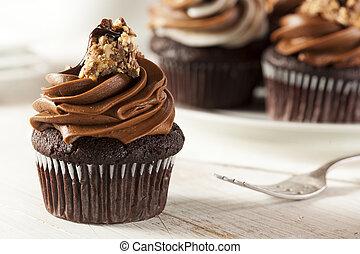 gear,  chocolate, caseiro,  Cupcake