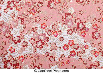 japonés, patrón, papel