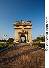 Triumphal arch in vientiane