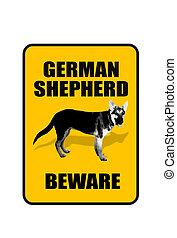 German Shepherd Door Sign.