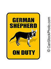 German Shepard. - German Shepard dog on duty.