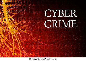 Cyber Crime Abstract Background in Red and Black