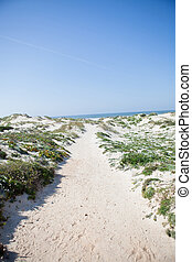 Path to beach - Sandy path to beach in Baleal Portugal