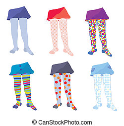 Children tights set with funny patterns