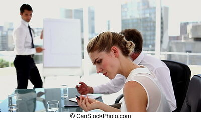 Businesswoman getting an idea - Businesswoman getting an...
