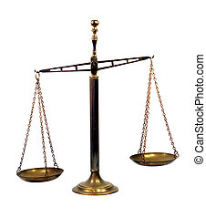 Rusty vintage scale - Rusty vintage brass scale which is...