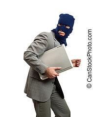 ladrón, obteniendo, lejos