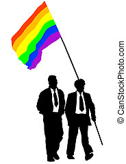 Rainbow flag - Vector drawing of a gay rainbow flag