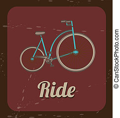 biking vintage - ride bicycle over vintage background vector...