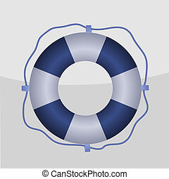 Life buoy - Vector icon with life buoy