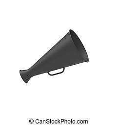 Bullhorn - Creativity concept with speaking trumpet in 3d.