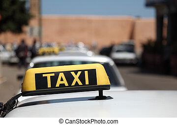 magnífico, taxis, ciudad, rabat, marruecos