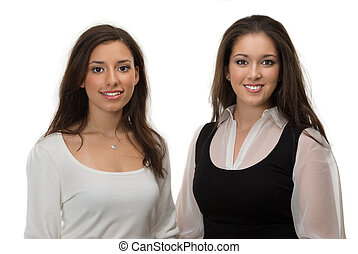 Businesswomen - Two young diverse businesswomen