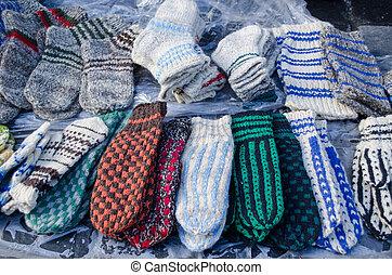 warm woven knit wool woollen sox socks market fair - lot of...