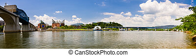 Downtown Chattanooga, Tennessee - Panoramic image of...