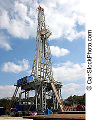Drilling Rig - Drilling for gas