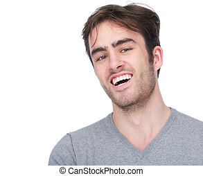 Portrait of handsome young man smiling