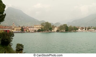 Lake Garda, Italy - city of Riva at the lake garda in Italy