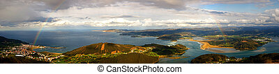 Panoramic landscape, Galicia, Spain - Panoramic landscape...