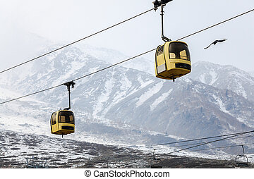 Gulmarg gondola in kashmir, india