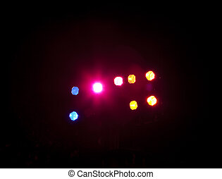 Theatre Spot Lights - A group of spotlights illuminating a...