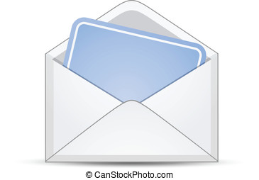 Open envelope with empty card
