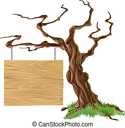 Sign Tree Illustration