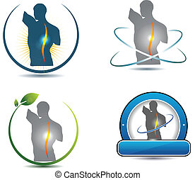 Healthy spine symbol Can be used in chiropractic, sports,...