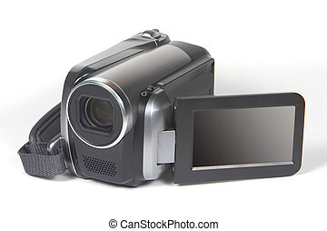 Video Camera - A video camera isolated on white background