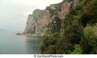 Lake Garda, Italy - village of Campione at the lake garda in...