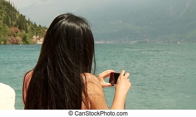 Woman At Lake Garda, Italy