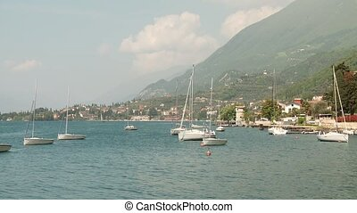 Sailboats at Lake Garda, Italy - sailboats at the lake...