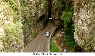 Canyon Street - SP38 at lake garda in Italy - road SP 38 at...