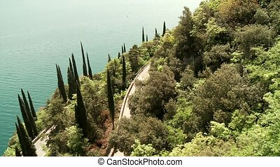 lake garda, Italy - road at the lake garda in italy, europa