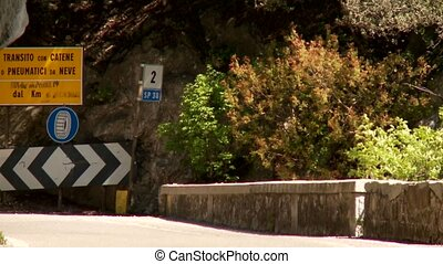Street SP38 at lake garda in Italy