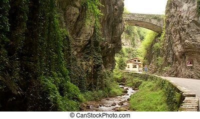 Street in Canyon - road SP 38 at the brasa canyon at the...