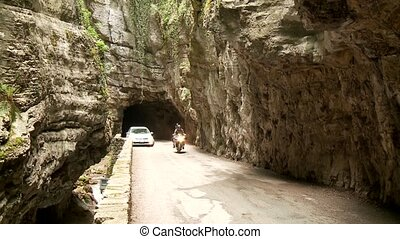 Cars in Canyon ? Street - road SP 38 at the brasa canyon at...