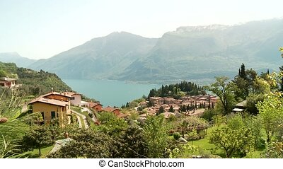 Lake Garda and Village, Italy - typically village in italy...