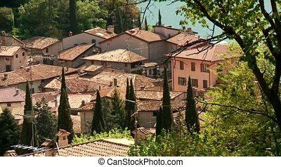Village in Italy - typically village in italy Tremosine at...