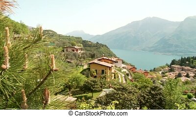 Lake Garda and Village, Italy - typically village in italy....