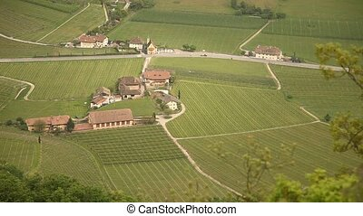 Aerial on a landscape in Italy - aerial Landscape in south...