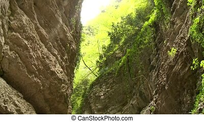 Canyon with River - video footage of a canyon brasa in Italy...