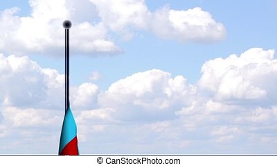 Animated Flag of Azerbaijan