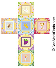 cross - illustration of religion cross isolated