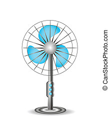 Electric table fan, illustration