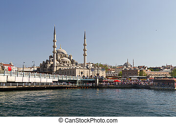 Eminonu District and New Mosque, Istanbul, Turkey